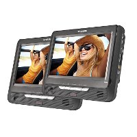 SDVD9957 Sylvania 9 Inch Dual Screen Portable DVD Player