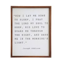 Now I Lay Me Down To Sleep Wood Framed Wall Decor