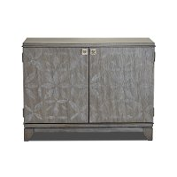 Painted Gray Two Door Chest  - Colony