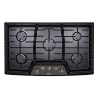 LCG3611BD LG 36 Inch Gas Cooktop - Black Stainless Steel