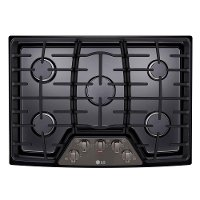 LCG3011BD LG 30 Inch Gas Cooktop - Black Stainless Steel