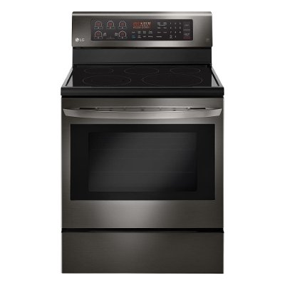 LRE3194BD LG Electric Range - 6.3 cu. ft. Black Stainless Steel