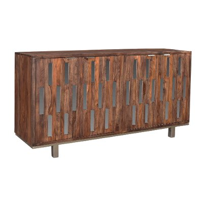59 Inch Medium Brown TV Stand - Brownstone