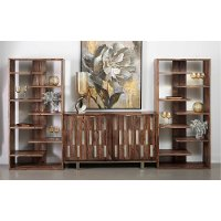 Medium Brown 3 Piece Entertainment Center - Brownstone