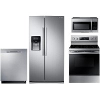 PACKAGE Samsung 4 Piece Kitchen Appliance Package with Electric Range - Stainless Steel