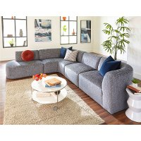 Modern Gray 4 Piece Sectional Sofa with LAF Chaise - Nyla