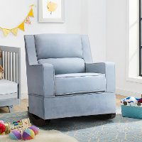 Contemporary Light Blue Nursery Rocker - Riley
