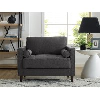 Mid Century Modern Dark Gray Chair - Lawrence
