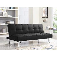 Black Serta Convertible Sofa Bed - Carly