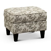 Neutral French-Inspired Ottoman - Loren