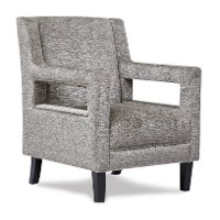 Taupe Gray Modern Accent Chair - Roxanne