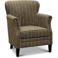 Charcoal Accent Chair with White Stripes - Layla