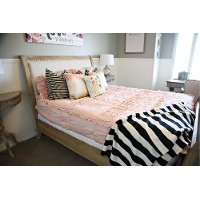 Beddy's Queen Vintage Blush Cotton Bedding Collection