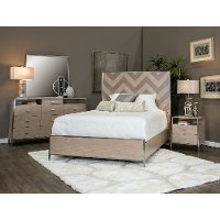 Modern 4 Piece King Bedroom Set - Silverlake Village