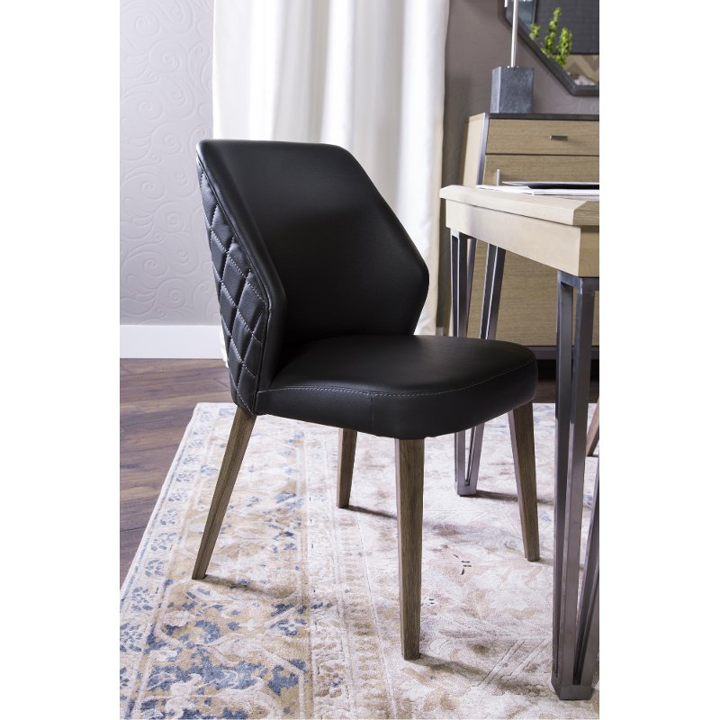 Contemporary Black Upholstered Dining Room Chair Silverlake Village