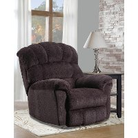 Traditional Mocha Brown Manual Rocker Recliner - Easy Rider