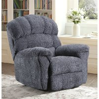 Traditional Smoke Gray Manual Rocker Recliner - Easy Rider