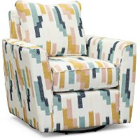Contemporary Wallflower White Swivel Accent Chair - Waikiki