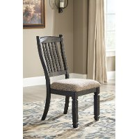 Set of 2 Gray-Brown and Black Upholstered Dining Chairs - Tyler Creek