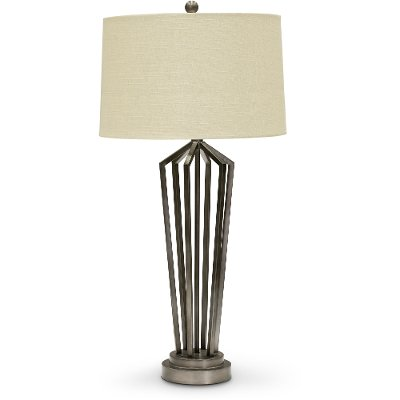 34 Inch Dark Silver Metal Table Lamp