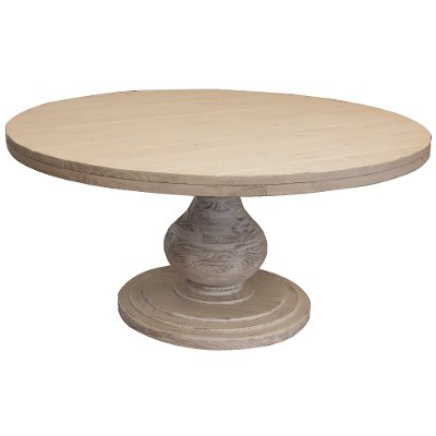 Ivory Round Dining Table - Bonanza
