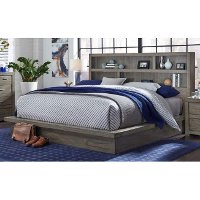 Modern Brownstone Gray King Platform Bed - Modern Loft