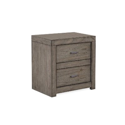 Modern Brownstone Gray Nightstand - Modern Loft