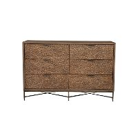 1859-03 Rustic Modern Mahogany and Copper Dresser - Penny