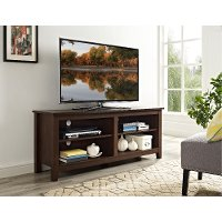 58 Inch Transitional Walnut Brown TV Stand