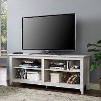 Antique White 58 Inch Transitional TV Stand