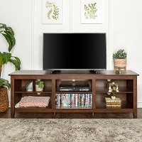 Modern 70 Inch Walnut Brown TV Stand