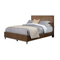 KIT Rustic Modern Mahogany and Copper Queen Bed - Penny