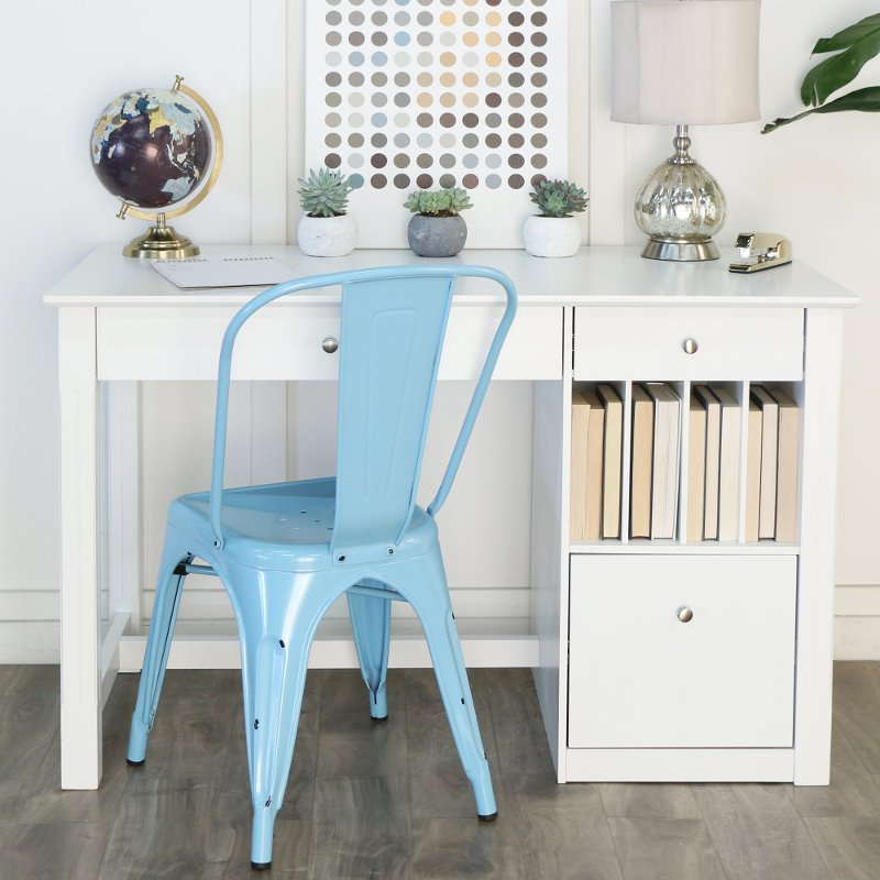 Classic White Home Office Wood Desk