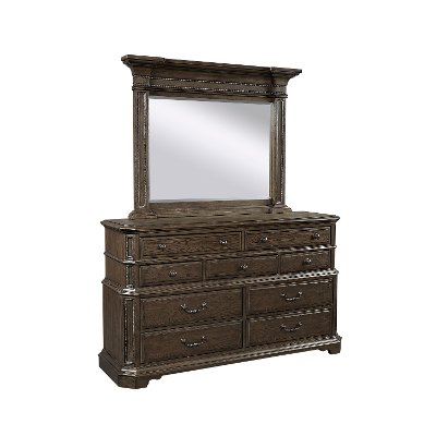 Traditional Brown Dresser - Foxhill