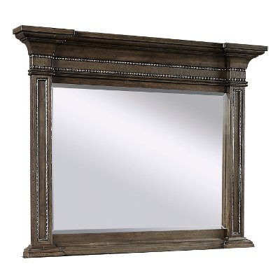 Traditional Brown Mirror - Foxhill