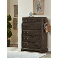 Traditional Brown Chest of Drawers - Foxhill