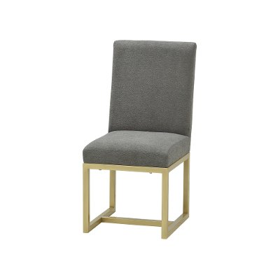Contemporary Gray and Champagne Upholstered Dining Room Chair - Tango