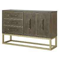 Contemporary Walnut and Champagne Dining Sideboard - Tango