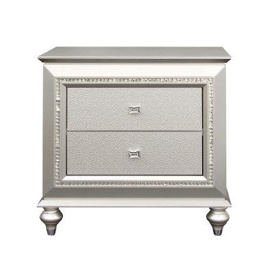 Contemporary Champagne Nightstand - Kaitlyn