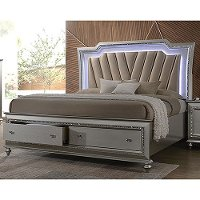 Champagne Platinum King Storage Bed - Kaitlyn