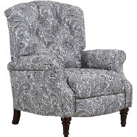 Gray Push Back High Leg Recliner - Zulu