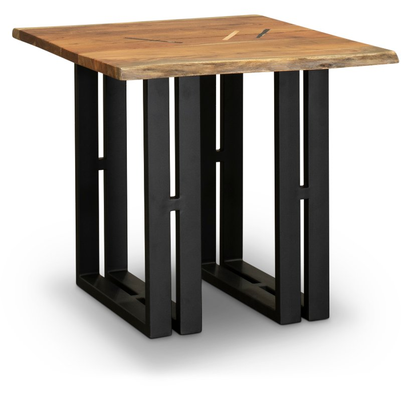 Live Edge End Table With Metal Base Copenhagen Rc Willey Furniture Store