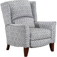 Platinum Gray High Leg Push Back Recliner - Gillian