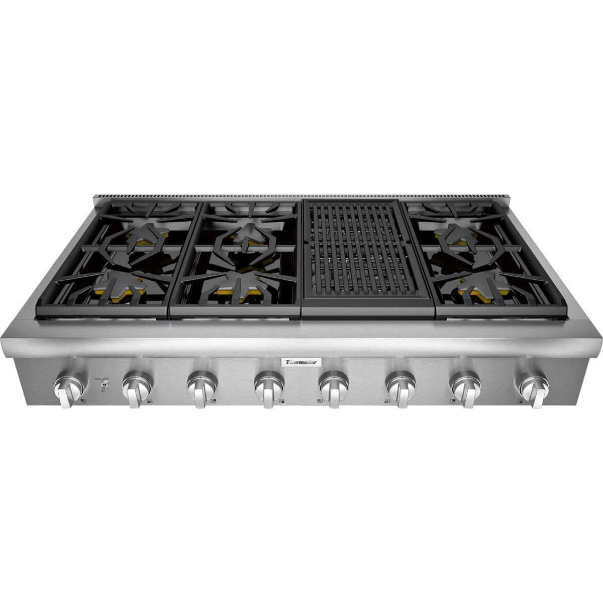 Thermador Gas Cooktop 48 Inch Stainless Steel Rc Willey Furniture
