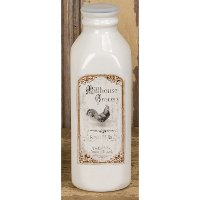 Dolomite Milk Bottle with Rooster Decal