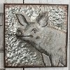 Metal Embossed Pig Framed Wall Art