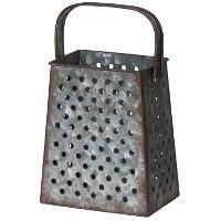 Vintage Metal Rectangular Grater with Handle