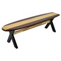 Surf Board Patio Bench - Woody