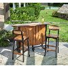 Acadia Wood 3 Piece Bar Set - Woody