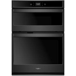 WOC54EC7HB Whirlpool 27 Inch Smart Combination Wall Oven with Microwave - 5.7 cu. ft. Black